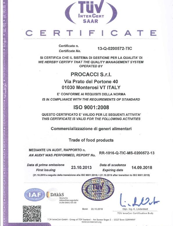 ISO CERTIFICAZIONE
